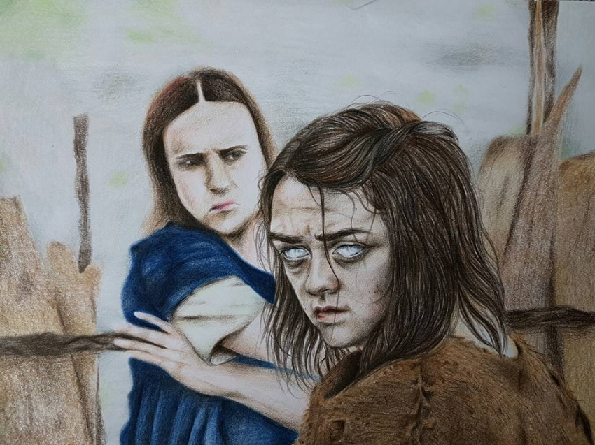 Maisie Williams by sssnakeart